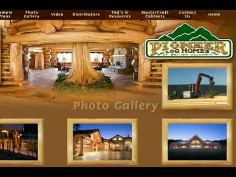 log cabin home videos from pioneer log homes of bc youtube. Black Bedroom Furniture Sets. Home Design Ideas