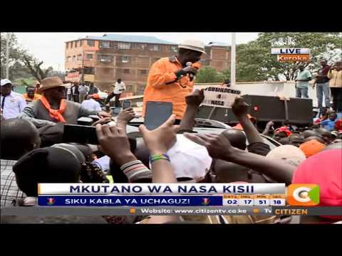 Nataka wakenya wamfundishe Uhuru adabu: Raila Odinga