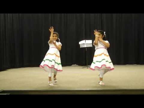 I Love My INDIA -- Performance by Ashwika Gampa & Harshita Narahari @ Clyde Hill Elementary School