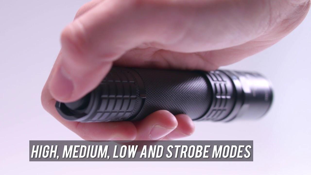 NightStick Tactical Flashlight USB Rechargeable 900//350//100 Lumens USB-558XL