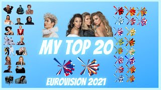 Eurovision 2021  - My TOP 20 (new AU - RS)