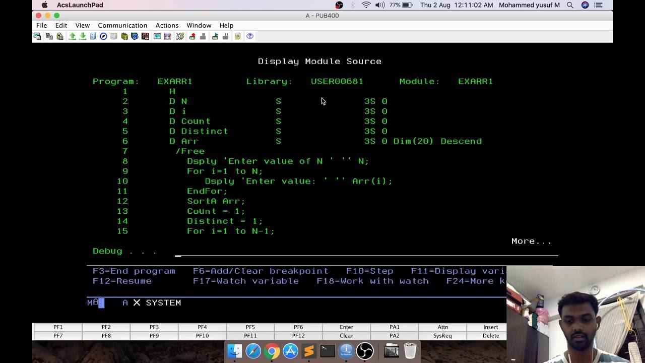 Crash Course RPGLE | Arrays Exercise Problem | IBM i (AS400) | yusy4code