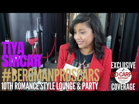 Tiya Sircar ed at Doris Bergman's 10th Valentine Romance Style Lounge & Oscar Party