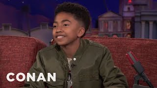 Miles Brown: Anthony Anderson Thinks School Is For Suckers  - CONAN on TBS