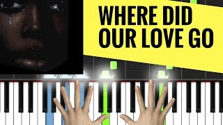 "PIANO TUTORIAL : ""Where Did Our Love Go"" ON YOUR PIANO ?"