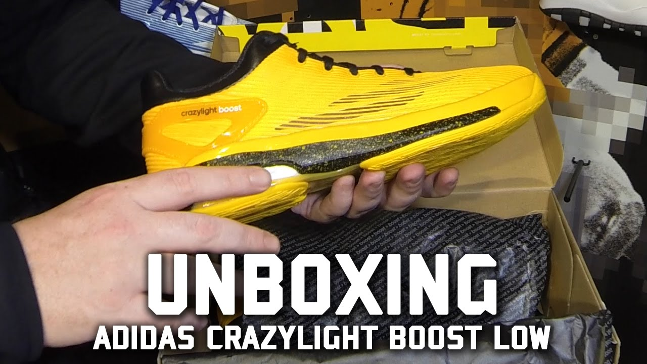 great fit d6845 d361f Adidas Crazylight Boost Low Jeremy Lin Unboxing - YouTube