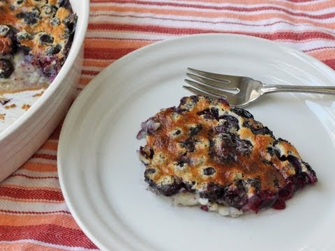 Blueberry Clafoutis Recipe - Fresh Blueberry Baked Custard Dessert