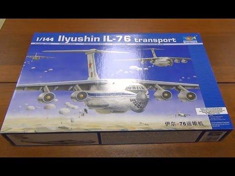 видео: Стендовый моделизм. Модель самолета Ил-76 1/144 trumpeter - что ещё сказать - это Трумпетер!!