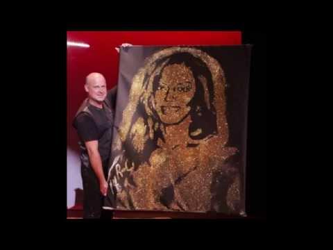 """""""America's Got Talent"""" Speed Painter Robert Channing Paints Mel B"""