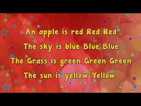 Karaoke - Color Song | Colors Song | Karaoke Rhymes