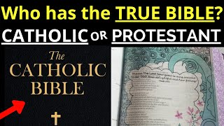 Protestant vs Catholic Bible (Catholics have MORE BOOKS!)
