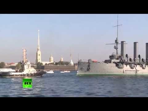 Russian Revolution Symbol: Iconic 'Aurora' cruiser towed to renovation port