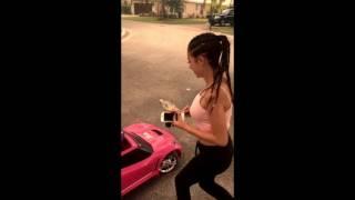Danielle Bregoli whippin that Barbie Corvette