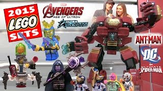 All 2015 Marvel & Dc Comics Lego Sets! Avengers Age Of Ultron, Ultra Agents, Super Heroes, Ant Man +