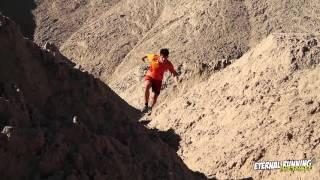 Jordi Gil entrenando por las Minas de Sal de Sallent