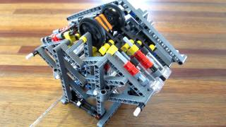Lego pneumatic engine - camless W6 (sliders)