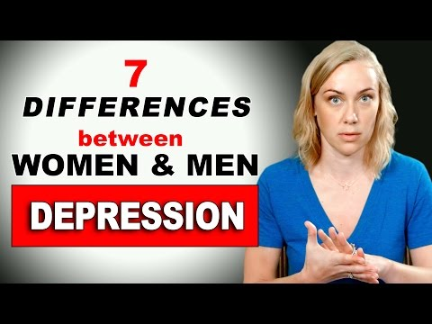 DEPRESSION: The 7 DIFFERENCES BETWEEN WOMEN & MEN