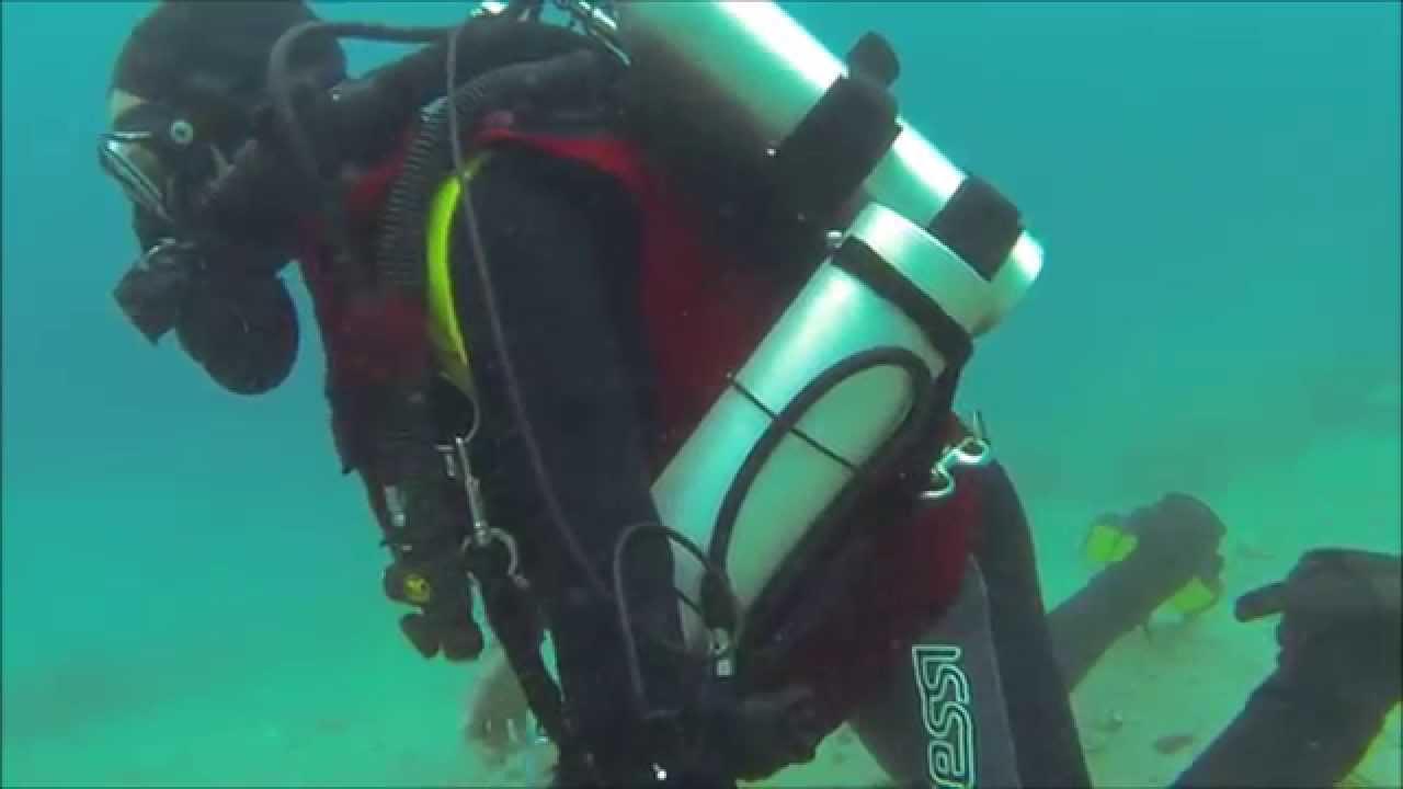 Poseidon MKVI / Seven rebreather training - YouTube