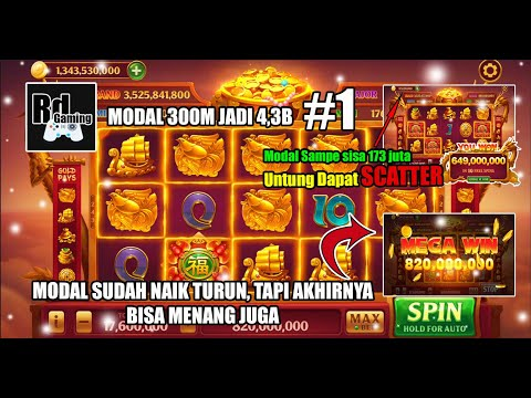PART 1, Main Bet Dari 4,4 M Sampe Max Bet, Modal 300M Jadi 4,3B│Higgs Domino Game Indonesia