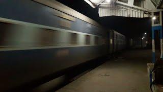 Train Running At Full Speed In Night Farakka Express!!