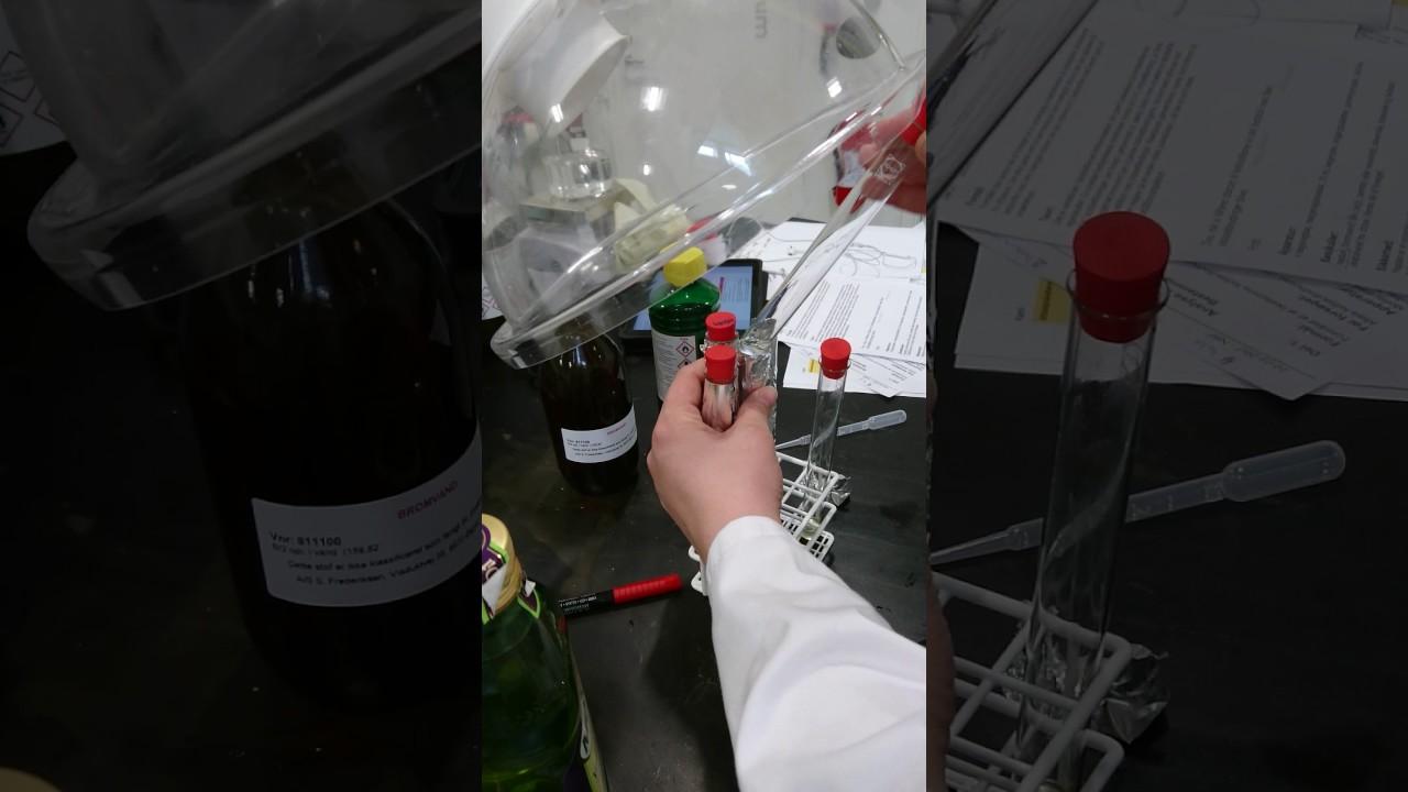 Analyse af fedtstof (additionsreaktion for at bestemme grad af umættethed)
