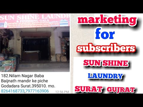 Sun Shine Laundry Surat ..  Free Marketing For Laundry Owners..