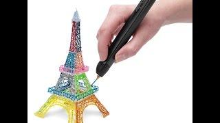 Новая 3Д ручка 3Doodler Create   распаковка, тест, рисуем Эйфелеву башню 3D