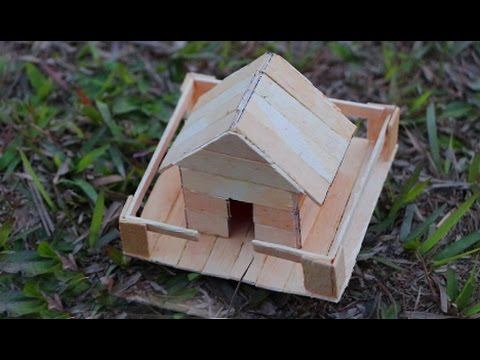 Thumbnail: How to make a Popsicle stick house - Miniature ice Cream Sticks House