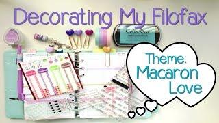 Decorating My Filofax - Macaron Love Theme