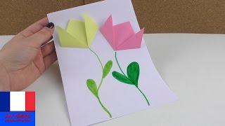 Baixar Image de printemps avec des fleurs en papier | Bricolage et pliage | Français