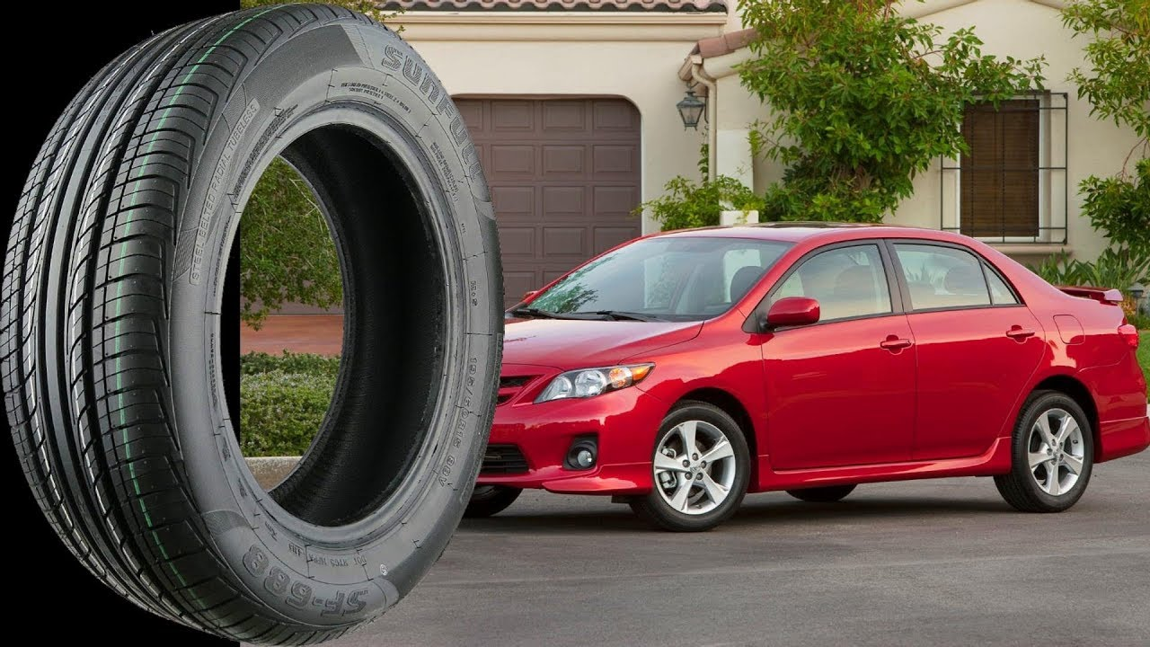 Stock Tire Size For All TOYOTA COROLLA 1991 2017