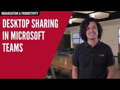 Desktop Sharing In Microsoft Teams