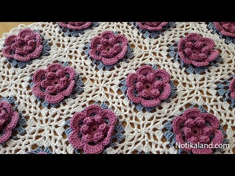 How to crochet a baby blanket for beginners Part 3 VERY EASY Tutorial Step by step - YouTube