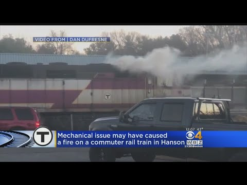 Fire On Hanson Commuter Rail Train Causes Delays