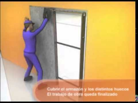 Como montar una puerta corredera kriket youtube for Puerta corredera de castorama corredera
