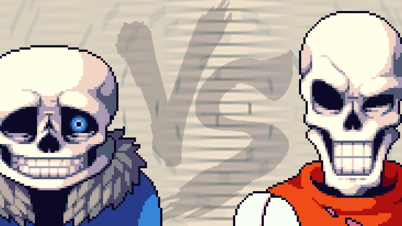 sans vs papyrus undertale fight animation p 1 2 youtube