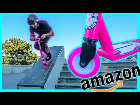 Testing CHEAPEST AMAZON Scooter at Skatepark!
