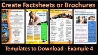 Faire de la Brochure - Comment Faire des Brochures dans Microsoft PowerPoint 2010 - Seul Exemple de Page 4