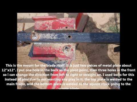 How To Make A Home Made Adjustable Atv Scrape Blade