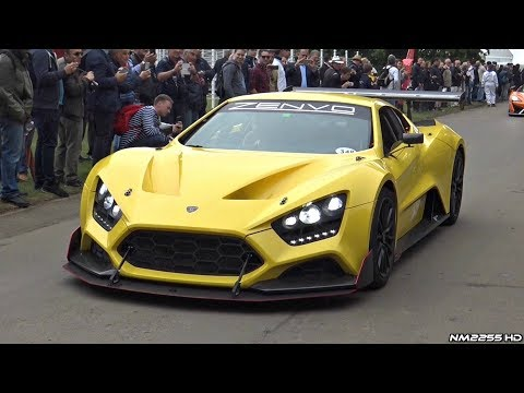 1100HP Zenvo TSR Hypercar Twin-Supercharged V8 Exhaust Sounds @ Goodwood!