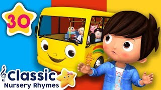 ALL Wheels On The Bus Songs | +More Classic Nursery Rhymes | Little Baby Bum