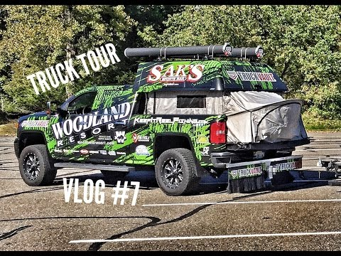 VLOG #7 Truck Tour, TRUCKVAULT, ARE Z Series Topper, Rod Pods, Topper EZLift System, Tent EZLift