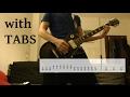 Limp Bizkit - Rollin Guitar Cover w/Tabs on screen