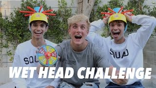 WET HEAD CHALLENGE! w/ Jake Paul