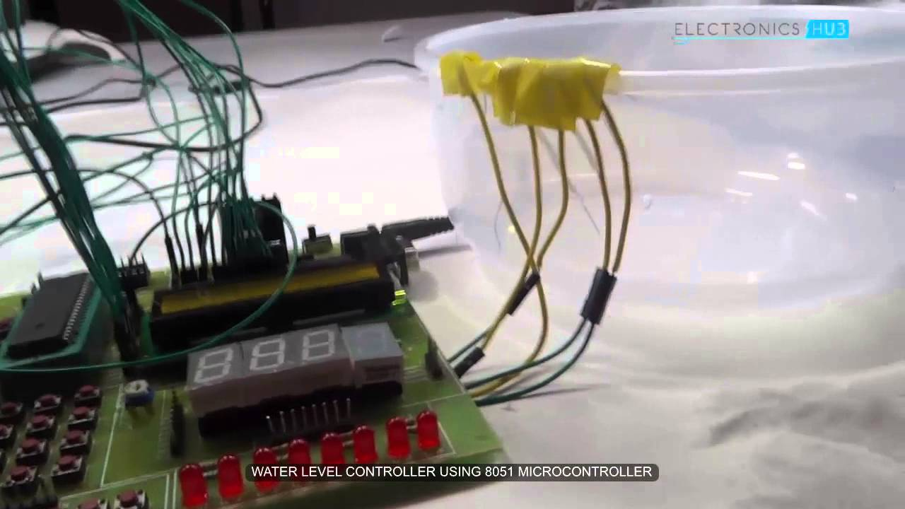 water level controller   microcontroller youtube