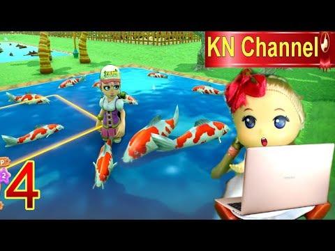 Trò Chơi KN Channel FARM TOGETHER  Tập 4 | BẮT CÁ KOI NHẬT TO KHỔNG LỒ TRONG NÔNG TRẠI BÉ NA