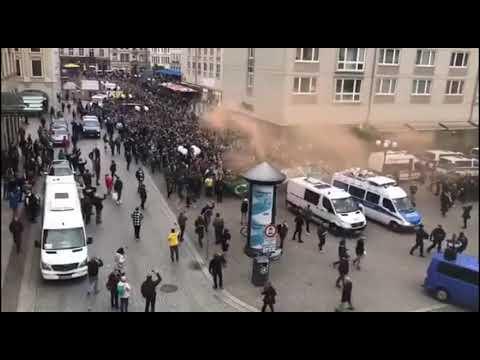 RB Leipzig vs Celtic Glasgow  -  Celtic fans in Leipzig