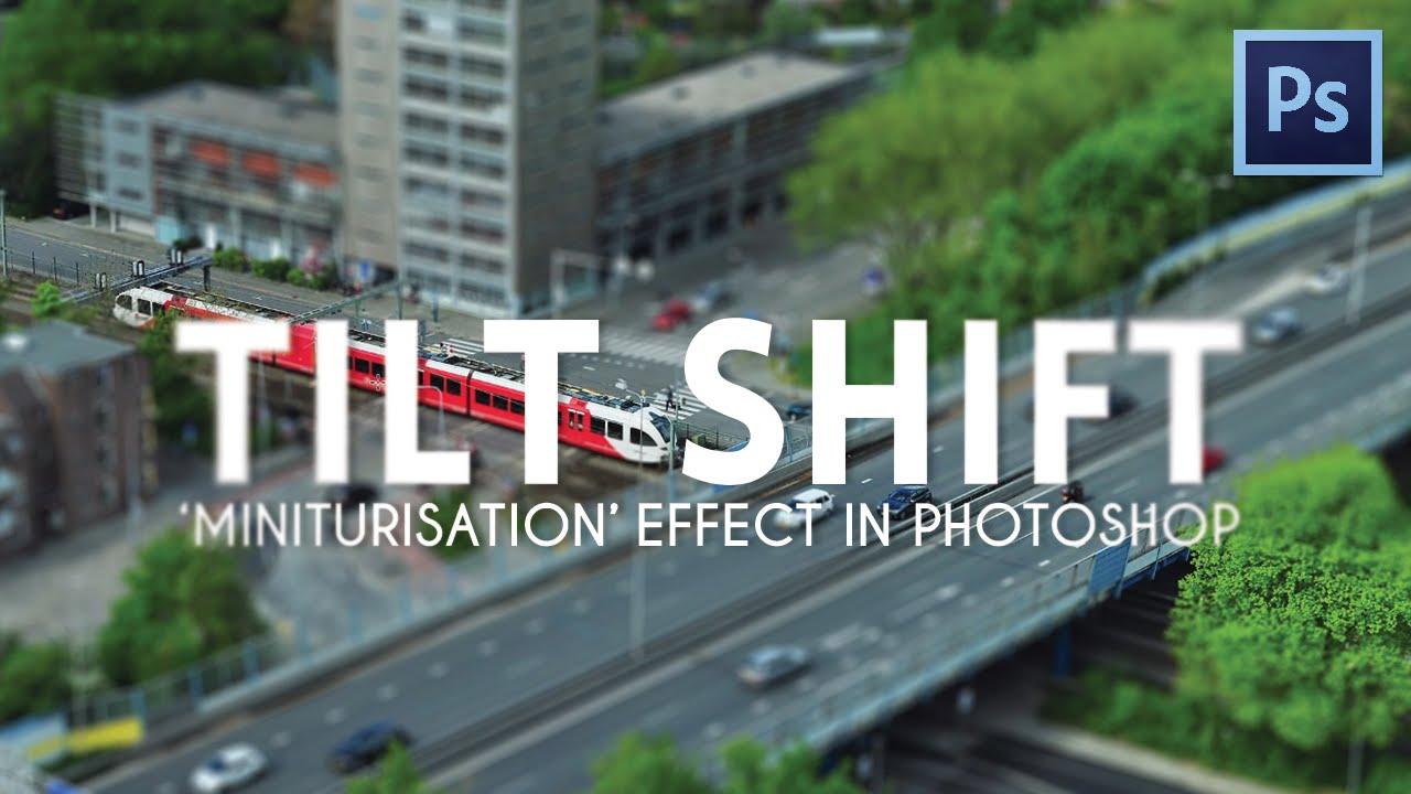 Photoshop tutorial miniature tilt-shift photo effect photoshopcafe.