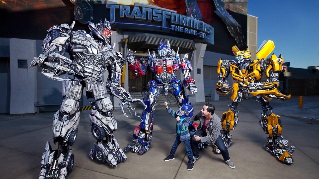 Universal Studios Transformers Ride Video