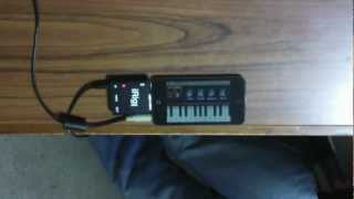 NLog MIDI Synth on iPod Touch with YAMAHA WX5 (test)